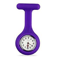 SILICONE GEL Nurses Fob Watch (Washable, Infection Free)Purple SH Q0V5 I1N5 I7W0