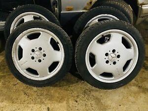 Genuine Mercedes AMG aero monoblock alloys 7.5 x 17 ET35 190e w124 w202 + tyres