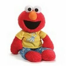 "GUND - SESAME STREET - 16""  PJ PAL ELMO - GLOW IN  DARK PAJAMAS -  CLOTH EYES"