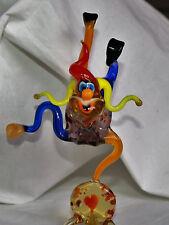 Art Blown Glass Murano Figurine Glass Figurine Clown .