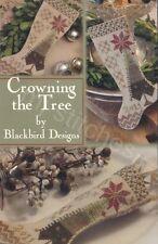 CROWNING THE TREE STOCKING BLACKBIRD DESIGNS CROSS STITCH CHART