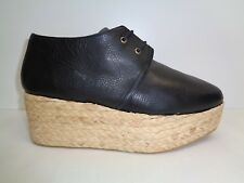 Robert Clergerie Size 10.5 PATOS Black Leather Platform Loafers New Womens Shoes