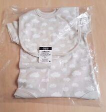 Mamas & Papas 2-Piece Baby Bodysuit & Bib (0-3 Months) - Mother, Gift, Babygrow