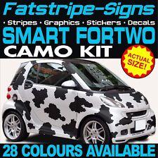 SMART Auto Fortwo GLI ADESIVI Camo grafica Strisce Adesivi Coupe Convertibile Brabus