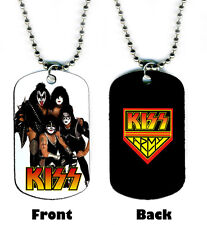 DOG TAG NECKLACE - KISS 1 Army Gene Simmons Paul Stanley Ace Frehley Peter Criss