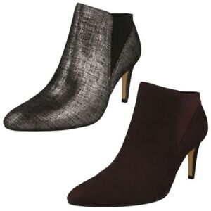 Womens-Clarks Pull On Ankle Boots Laina Violet