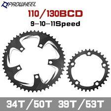 New listing Prowheel Road Bike Chainwheel 34T/50T 39T/53T Chainring 110BCD 130BCD Sprocket