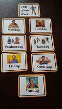 Mr Tumble Days of The Week EYFS Ks1 Sen Childminder First Learning Flash Cards