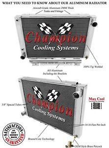 4 Row Aluminum Champion Radiator for 1964 1965 1966 Ford Thunderbird #MC64TB