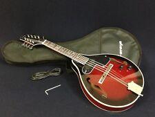 Caraya 005eq A-style F-holes Electric Mandolin Cherry Sunburst W/ Gig Bag
