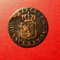 #1506 - RARE - Louis XV Liard à la vieille tête 1768 A Paris - FACTURE