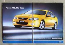 FORD BA FALCON XR8 2005 Sedan Auto Magazine Page Sales Ad Advertisement Brochure