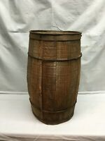 Vintage rustic vintage primitive nail keg barrel farm decor Lg Size 18.5in tall