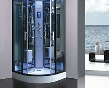 Design Deluxe Duschtempel Dampfdusche RUW513C 100x100 cm Vollausstattung