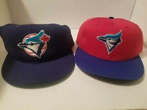 2 NWOT vtg Mens New Era MLB fitted Caps 7-1/2 TORONTO BLUE JAYS + T-SHIRT XL