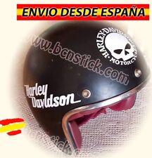 4x Pegatinas Vinilos Calavera Decal Calcomanía Moto Harley Davidson Casco