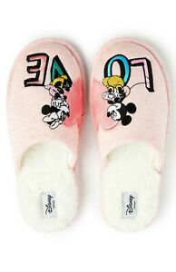 Disney Women's Slippers Mickey Minnie Ladies Indoor Slip On Mules Primark NEW