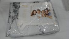 3-Piece Bedding Duvet Cover Set, Queen, White and Black Marble