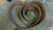 "892D Brown Leather 15 Feet x 5 7/8"" x 1/4"" Somewhat Dry & Rough Condition"