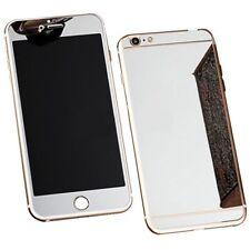 für Apple iPhone 5/5s SE Spiegel Effekt Panzerglas vorne/hint. Glasfolie silber