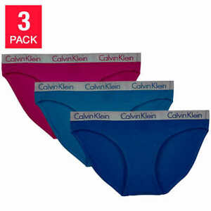 Calvin Klein Ladies' Bikini 3-pack Underwear Panties Size S, M, L, XL