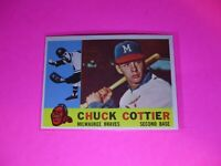 1960 Topps #417 WB Chuck Cottier Braves NmMt High Grade Sharp!