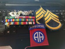 US ARMY RIBBONS , JUMP WINGS , RIGGER WINGS , AIR BRONE--- PATCH STAFF SERGEANT