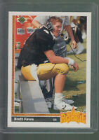 1991 UPPER DECK #13 BRETT FAVRE RC VIKINGS PACKERS ROOKIE CARD HALL OF FAME D