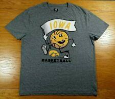 Iowa Hawkeyes Basketball J America Brand Retro Fit Soft Blend T-Shirt Men's Xl