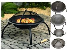 BBQ ROUND FIRE PIT FOLDING PATIO GARDEN BOWL OUTDOOR CAMPING PATIO HEATER LOG