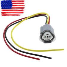 3 Pin Headlight Fog Light Turn Signal Connector Pigtail  For Nissan Mazda Subaru