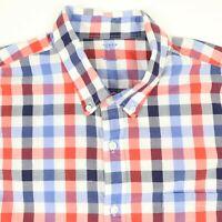 J CREW Lightweight Casual Shirt Mens XL Red Blue Check