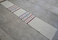 Turkish Rug Kilim Long Runner. Hand Woven Cotton Kilim Hallway Rug - 27″ x 187″