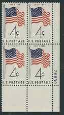 Scott #1153....4 Cent... Flag...10 Plate Blocks...40 Stamps