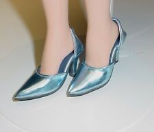 Doll Shoes, 42mm METALLIC LT BLUE Easy to Wear for Sybarite, MA Alex