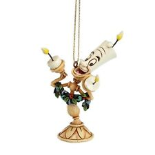 DISNEY CHRISTMAS Hanging Ornament Lumiere Jim Shore Figur A21430 Beauty Beast