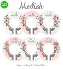 Modish Labels Baby Nursery Closet Dividers, Organizers, Decor, Girl, Deer,...