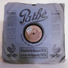 78T SAPHIR 29 cm Disque Mle MISTINGUETT Phonographe LA BELOTE Chanté PATHE 4184