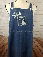 Overalls Denim Maxi Dress Size 10 Lillipad buttons, frog Studio Ease BHR2
