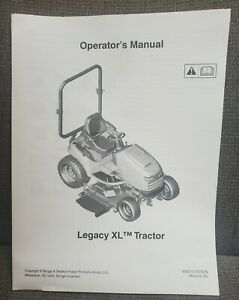 Simplicity Legacy XL Lawn and Garden Tractor Operator's Manual 80021515USCN NEW