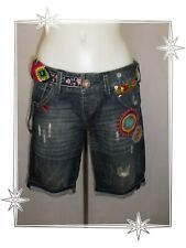 Short Bermuda Fantaisie Jean Strass Boutons  Desigual Taille 38