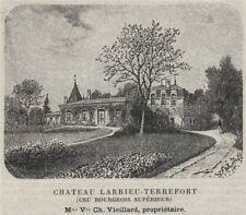 MÉDOC. MACAU. Chateau Larrieu-Terrefort (Cru Bourgeois Supérieur). SMALL 1908