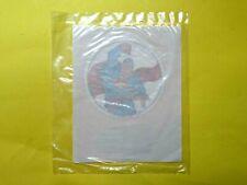 "Vintage 1982 Dc Comics Super RARE Iron On Sealed in Baggie 3"" Round Superman"