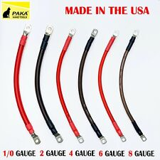 1/0 , 2 ,4 ,6 , 8 AWG Gauge Battery Cable Inverter Cables Solar, RV, Car, Golf ,