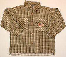 Hemd Jungenhemd klassisches Hemd langarm gestreift und Logo Größe 98