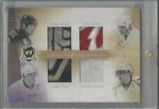2009-10 UPPER DECK THE CUP LEMIEUX / YZERMAN / CROSBY / OVECHKIN QUAD PATCH 3/5!