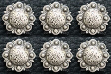 """Set of 6 Horse Headstall Saddle Tack Screw Back Antique Berry Conchos 1"""""""