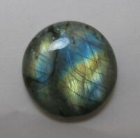 UNUSUAL 11mm ROUND CABOCHON-CUT NATURAL AFRICAN LABRADORITE GEMSTONE