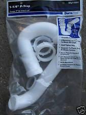 NEW 1- 1/4 INCH  PVC  P-TRAP