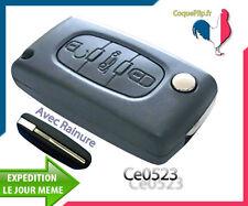 Coque Télécommande Plip Bouton Coffre Peugeot 207 307 407 Ce0523 AVEC rainure